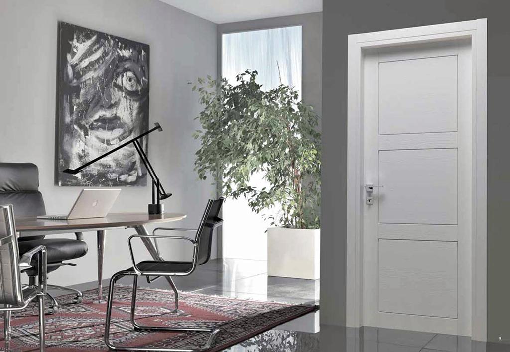 Porte in legno. Toscocornici. Porta da interno bianca